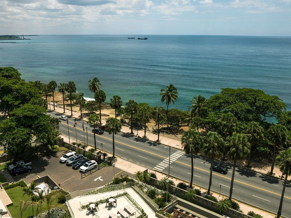 water sky Coast residential area aerial photography Sea shore overlooking Resort