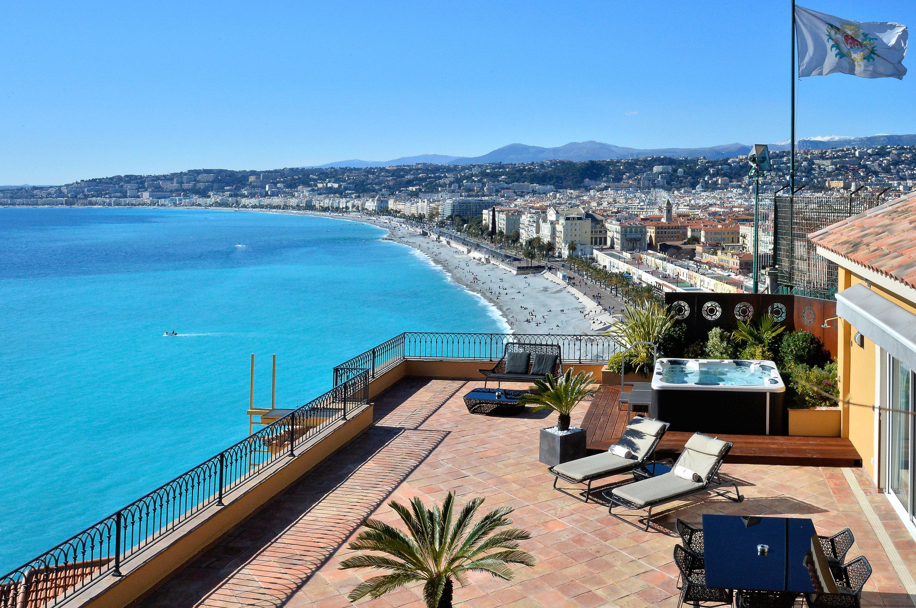 sky water property Sea Coast swimming pool Resort marina walkway condominium dock overlooking