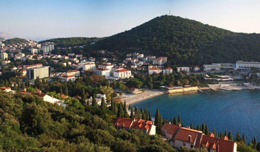 sky tree mountain Town Coast marina panorama Village long traveling Resort
