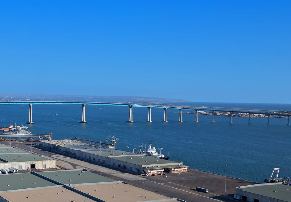 sky Sea vehicle Coast channel dock bridge infrastructure port breakwater pier marina day