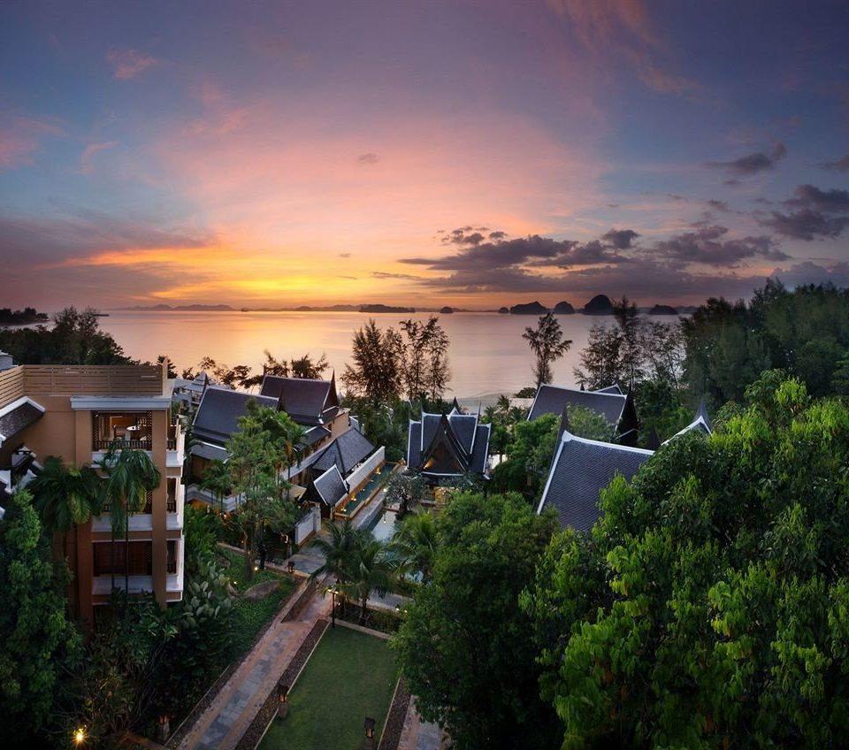 tree sky horizon Sunset cloud morning Coast cityscape evening residential area dusk Sea landscape sunlight