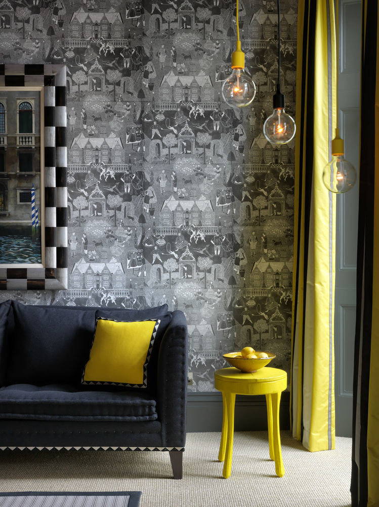 color yellow living room house home wallpaper flooring colored