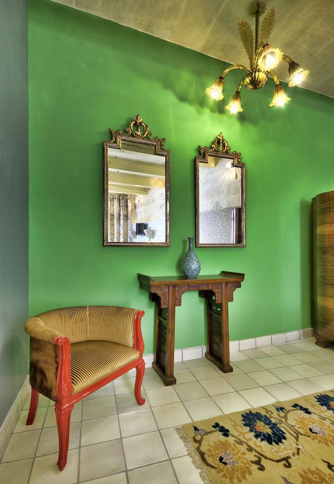color green house living room home cottage farmhouse tiled