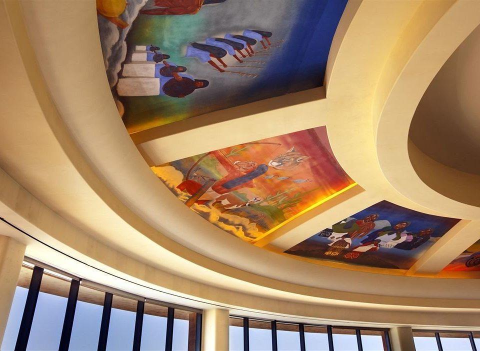 color mural daylighting step modern art seat