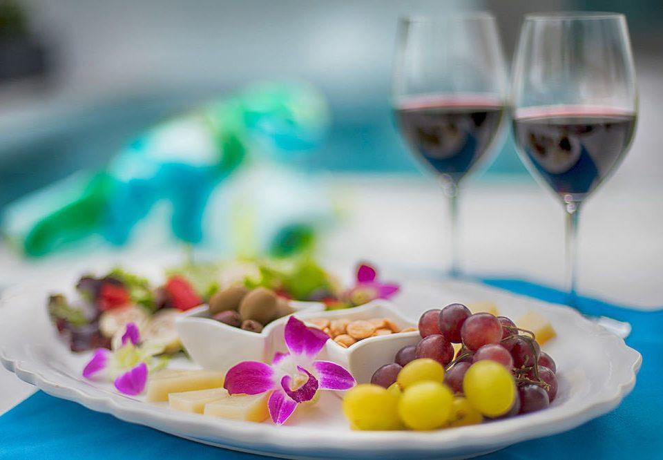 plate food color glass dessert