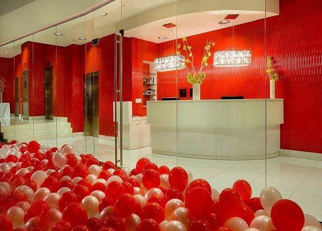 color red flower restaurant