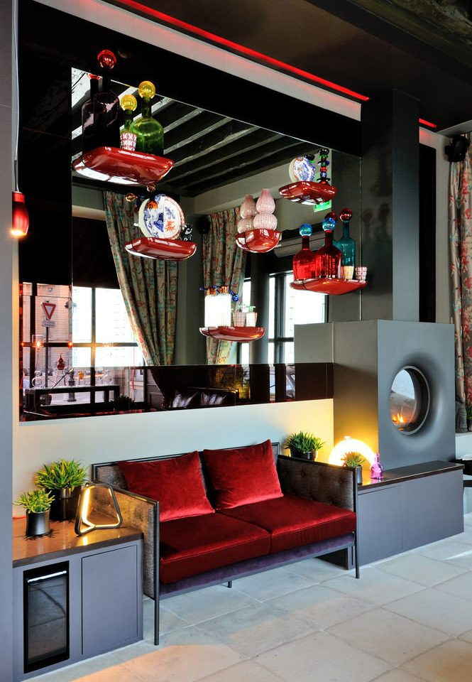 color red living room home