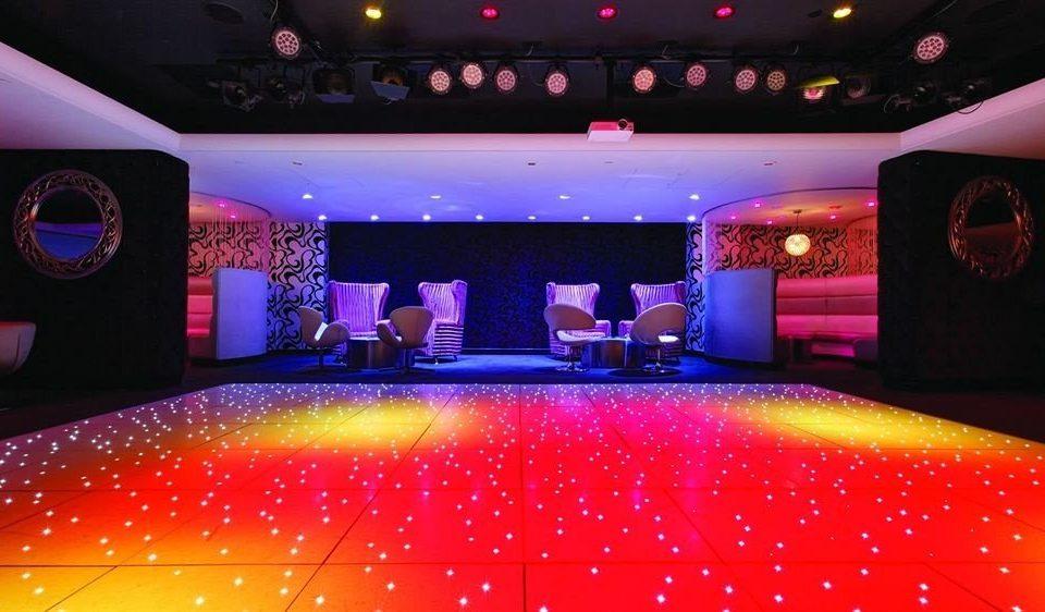 nightclub function hall disco colored