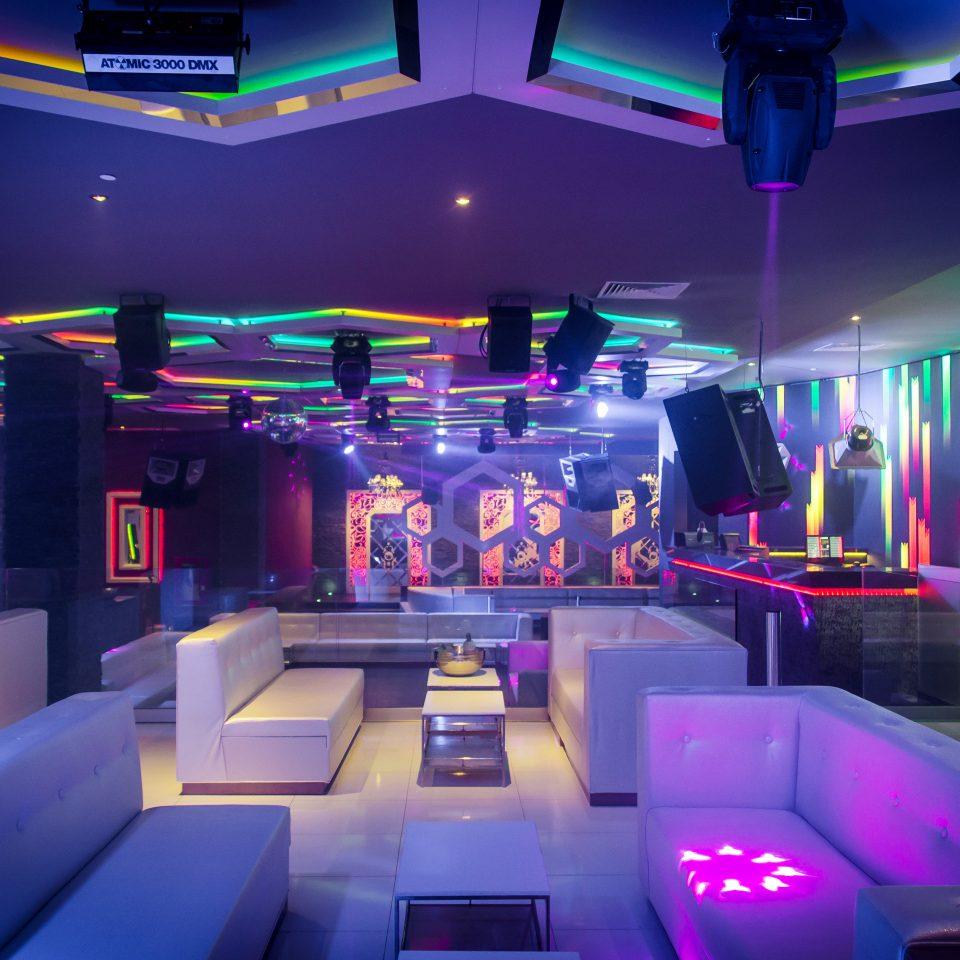 nightclub function hall music venue colored