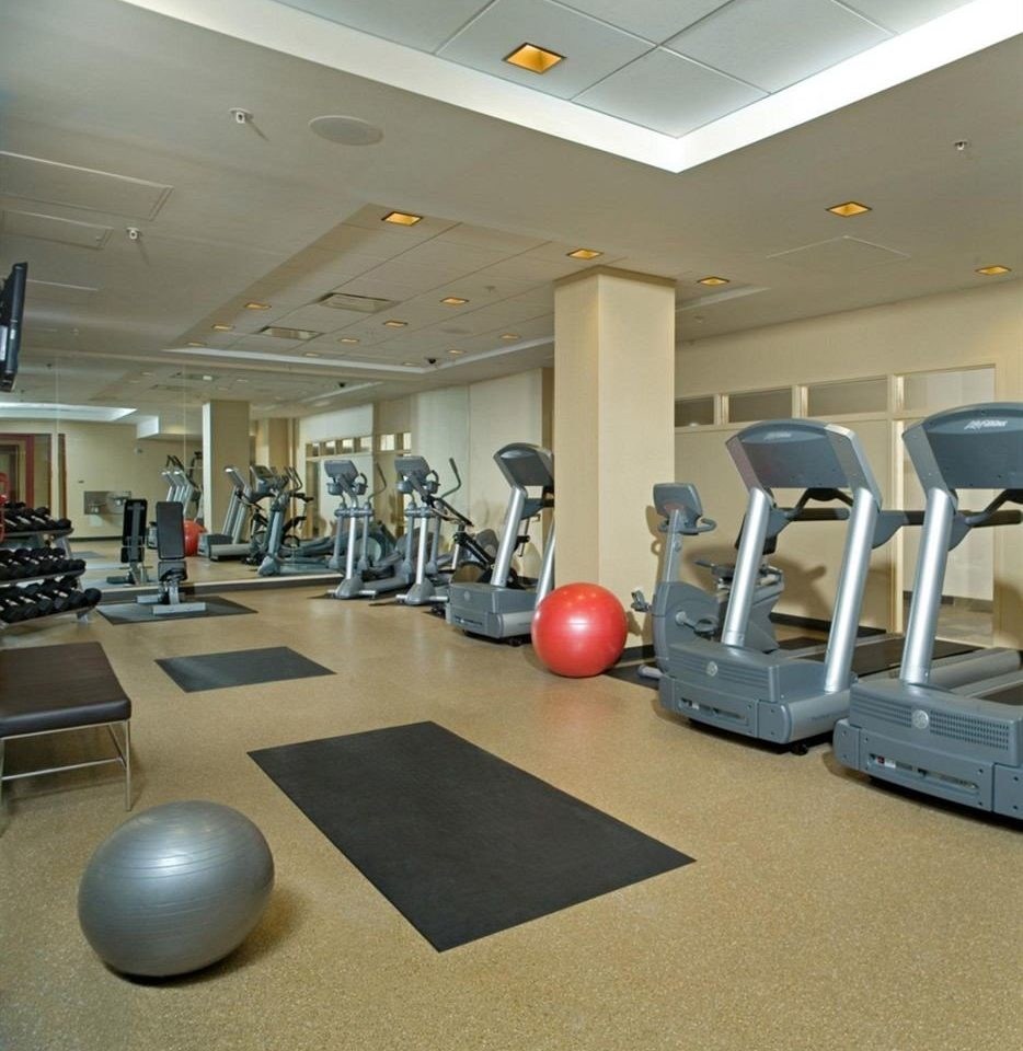 structure gym computer sport venue desk physical fitness flooring office