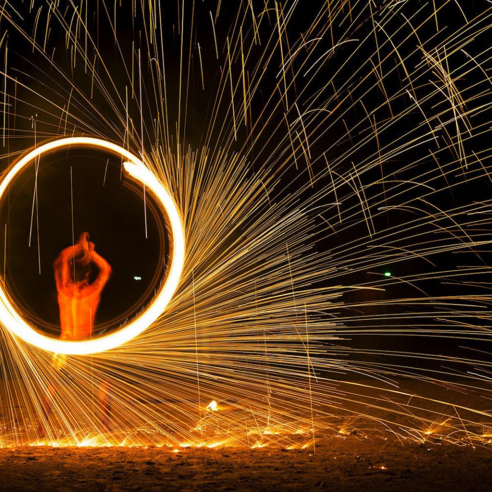 light night darkness sparkler special effects poi computer wallpaper