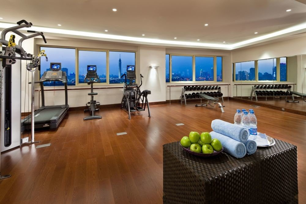 structure property sport venue hard recreation room condominium gym living room flooring conference hall