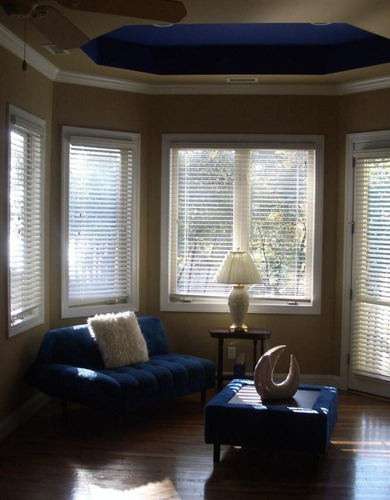 living room property home hardwood daylighting window treatment condominium