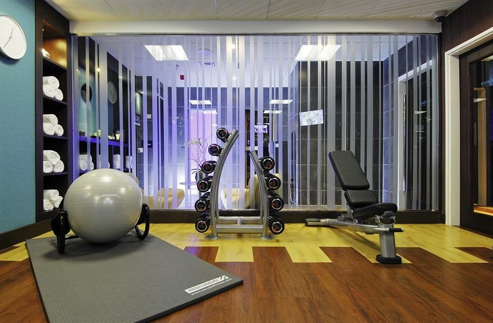 structure desk gym sport venue recreation room physical fitness condominium living room