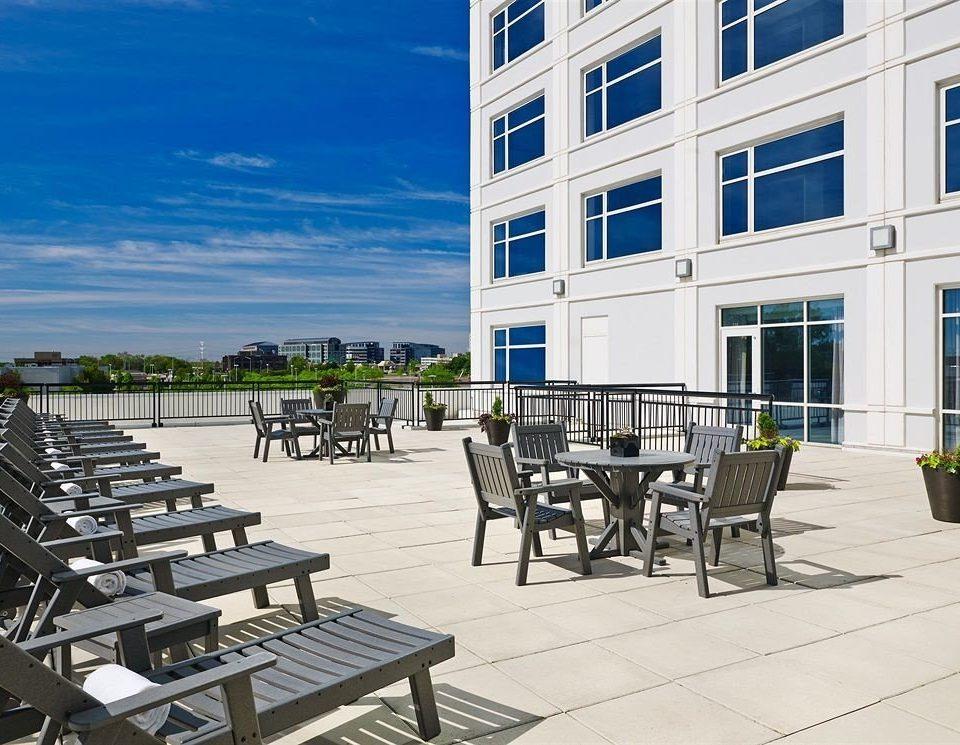 ground property condominium walkway park plaza residential area