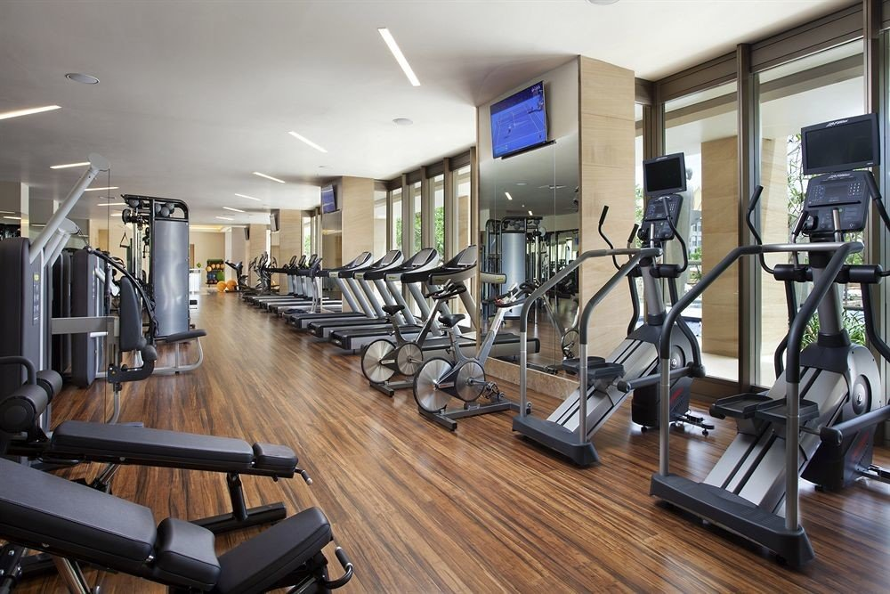 structure gym sport venue condominium wooden hard