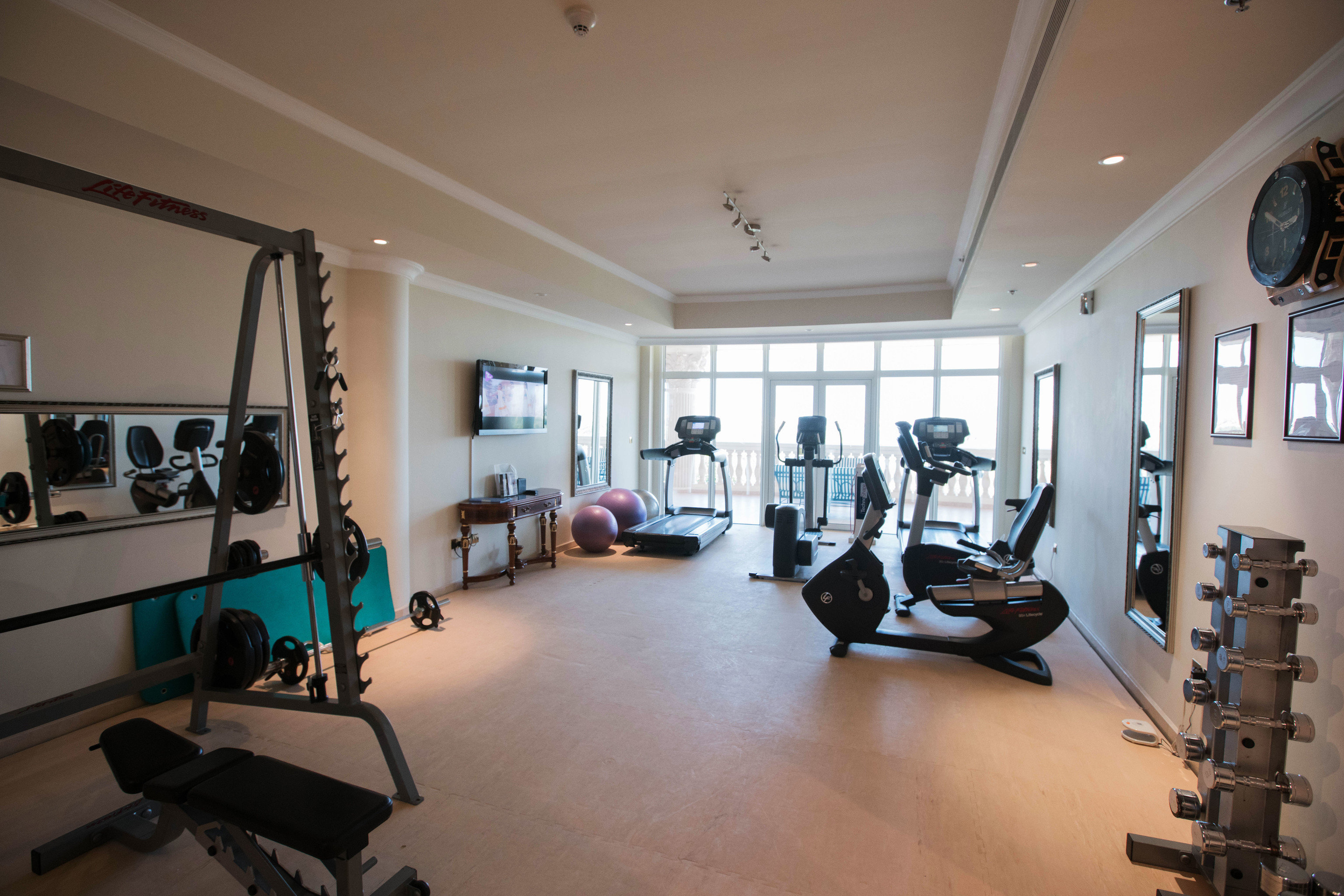 structure property sport venue condominium home gym physical fitness