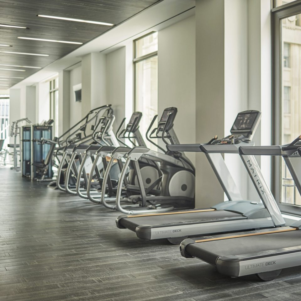 structure gym sport venue condominium lined