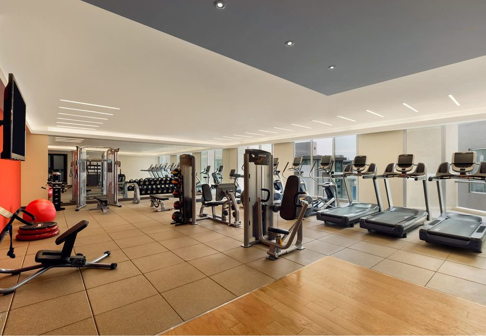 structure property gym condominium sport venue living room