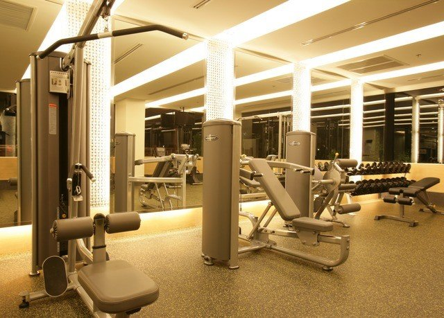 structure sport venue condominium office gym