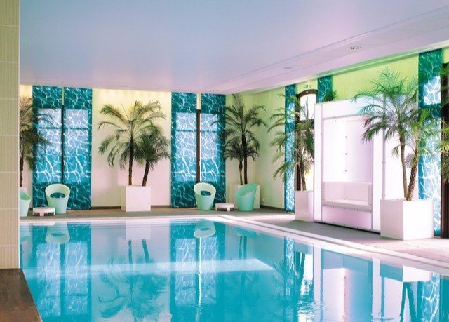 swimming pool property condominium mural painted