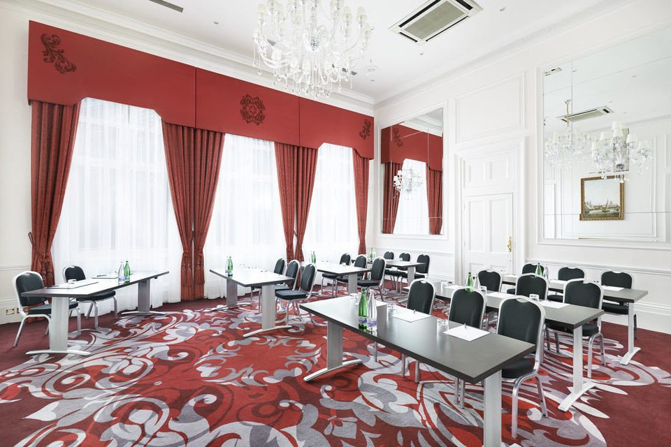 red conference hall function hall restaurant living room