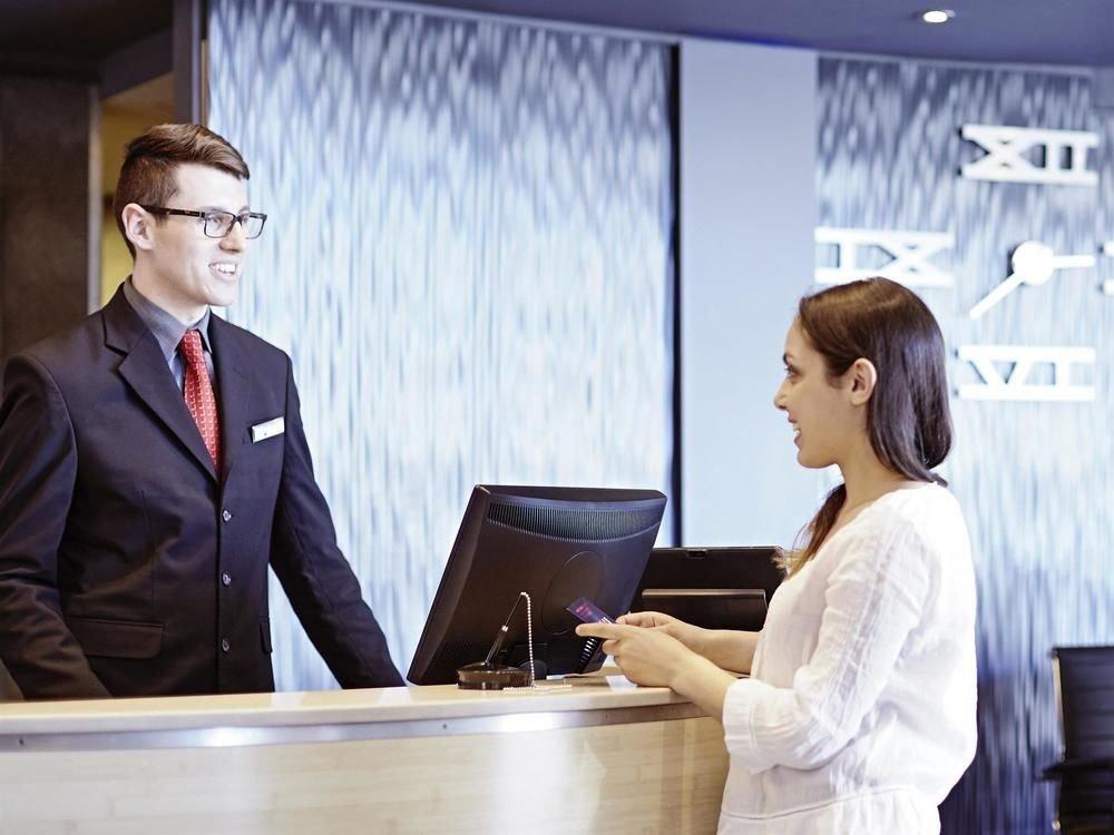 suit conversation professional conference room