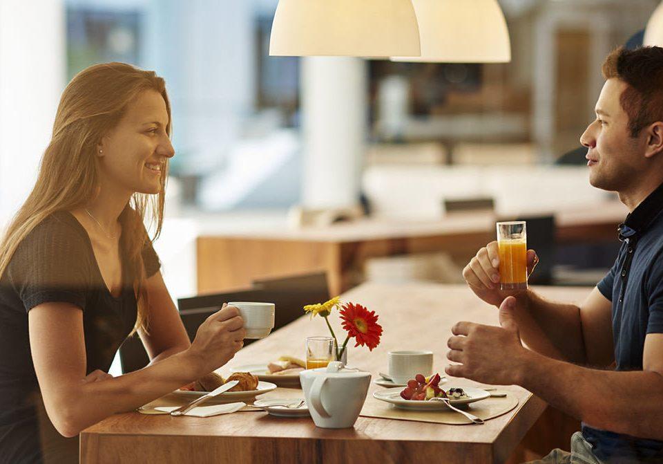 woman lunch conversation eating restaurant sense