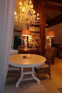 property curtain lighting living room cottage dining table