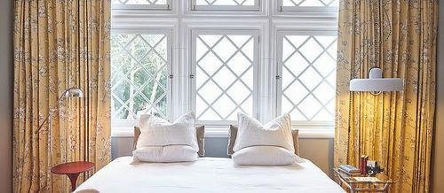 curtain window treatment textile cottage living room