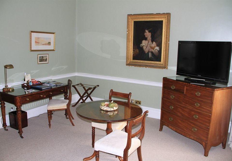 property home living room desk cottage recreation room