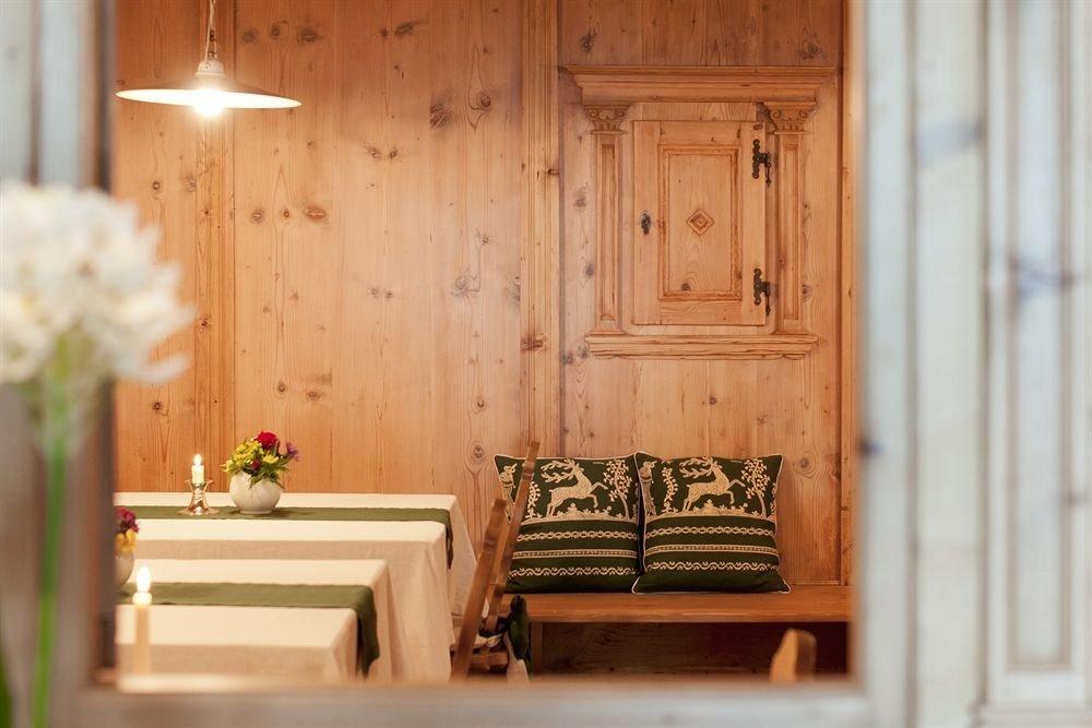 wooden house home living room cottage door