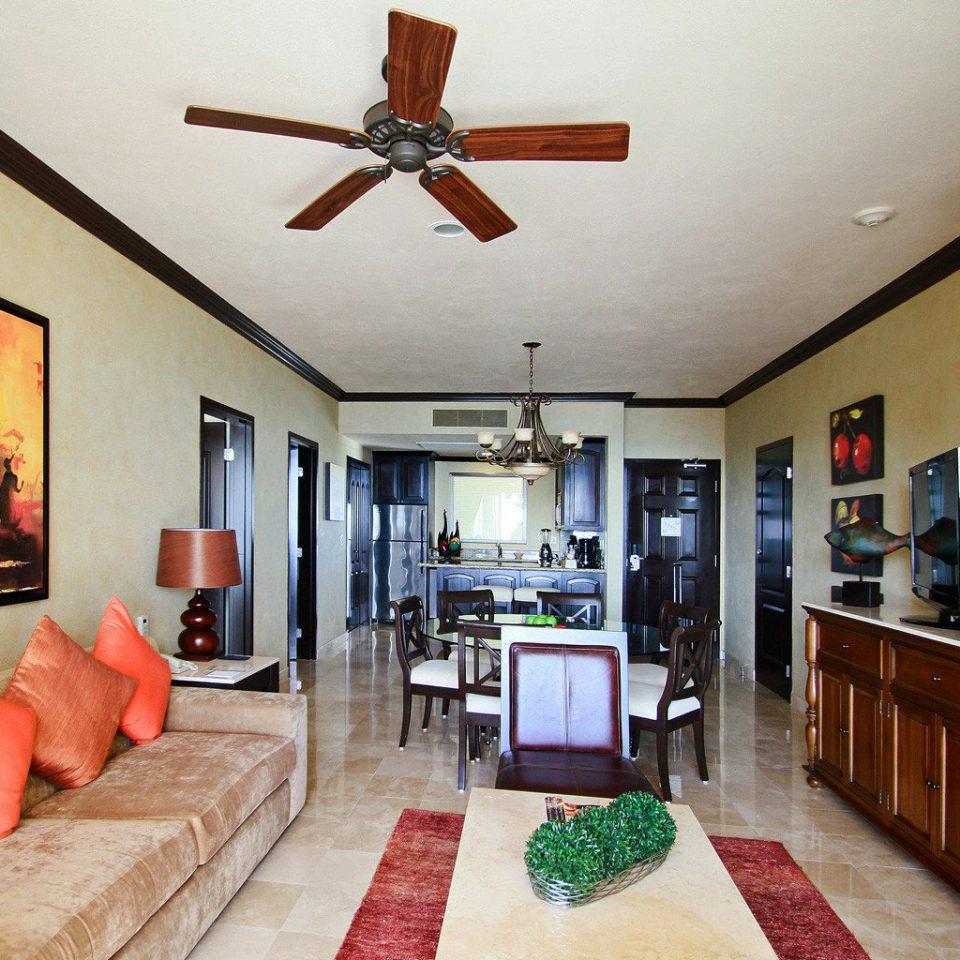 property home living room cottage orange flat