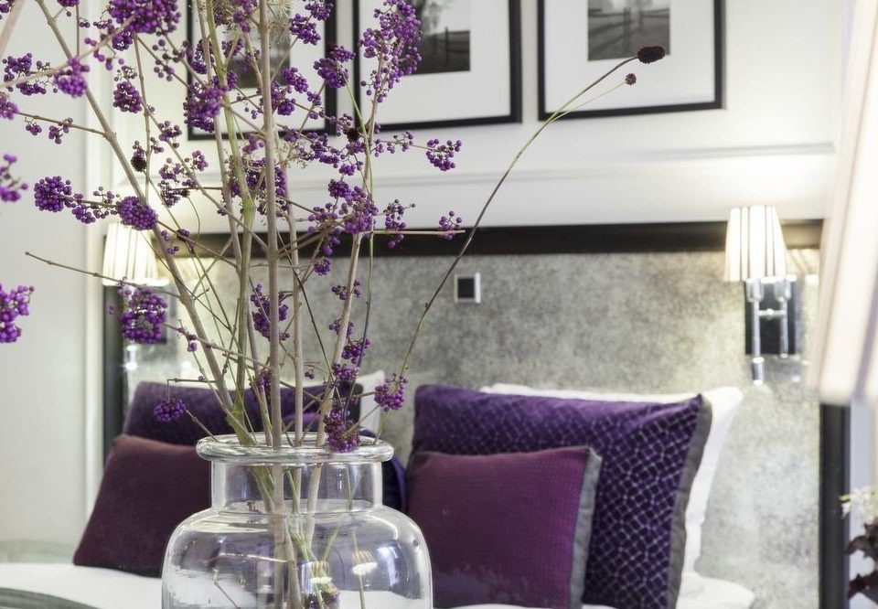 flower living room lighting home purple cottage