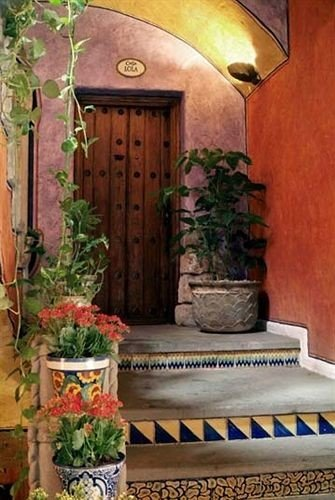 man made object home plant mansion cottage hacienda porch