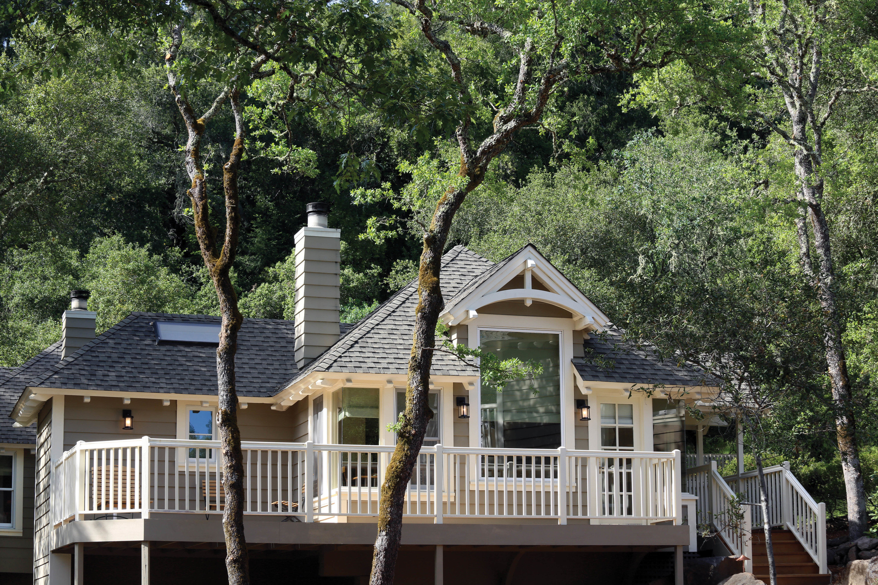 tree house property home cottage outdoor structure plant siding log cabin historic house residential