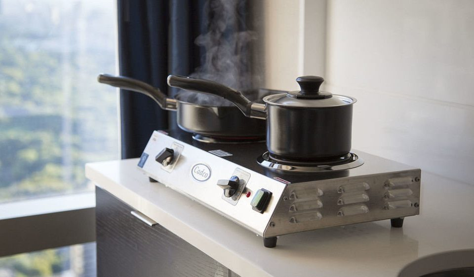 product machine gas stove counter