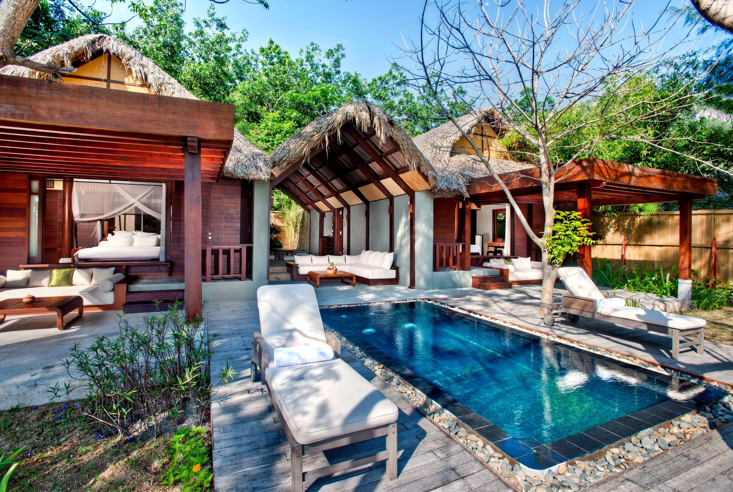 Country Deck Eco Forest Grounds Jungle Lounge Luxury Mountains Nature Outdoor Activities Outdoors Pool Romance Romantic Scenic views Tropical Villa Waterfront tree building property swimming pool house Resort backyard home cottage eco hotel