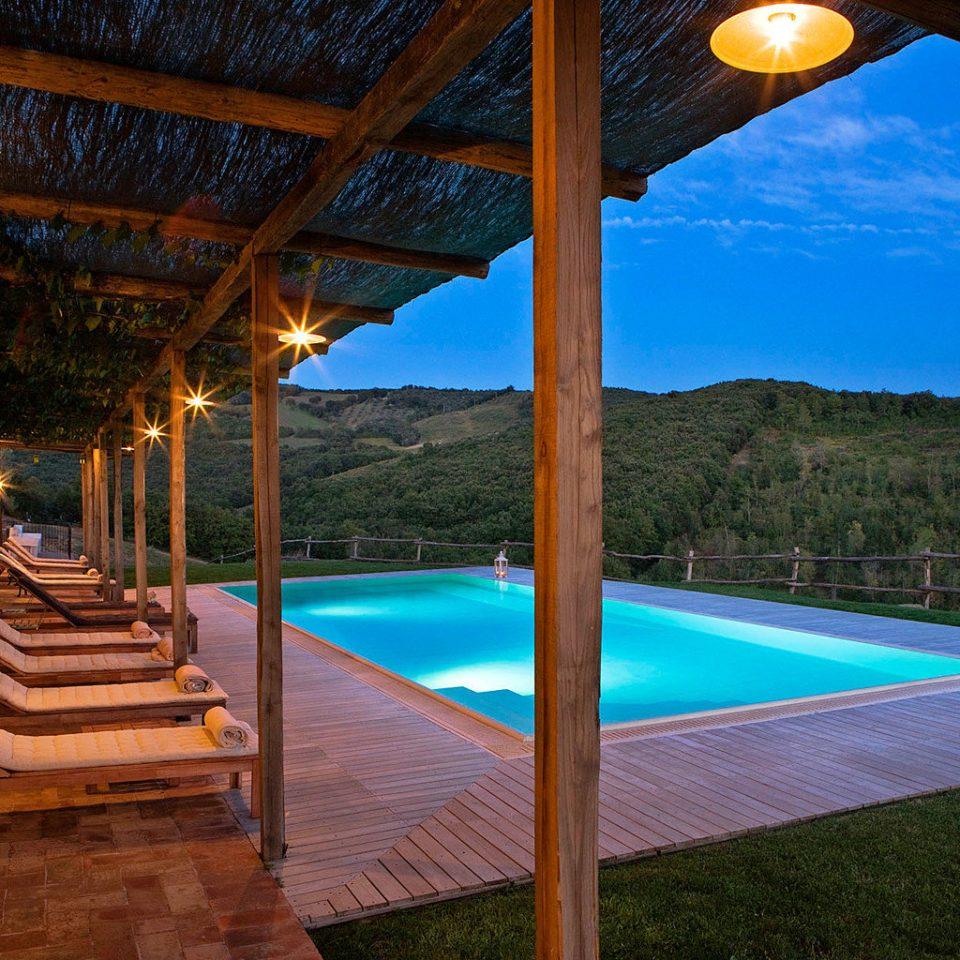 Country Deck Luxury Pool Rustic Scenic views Wine-Tasting Winery chair swimming pool leisure property Resort wooden Villa backyard