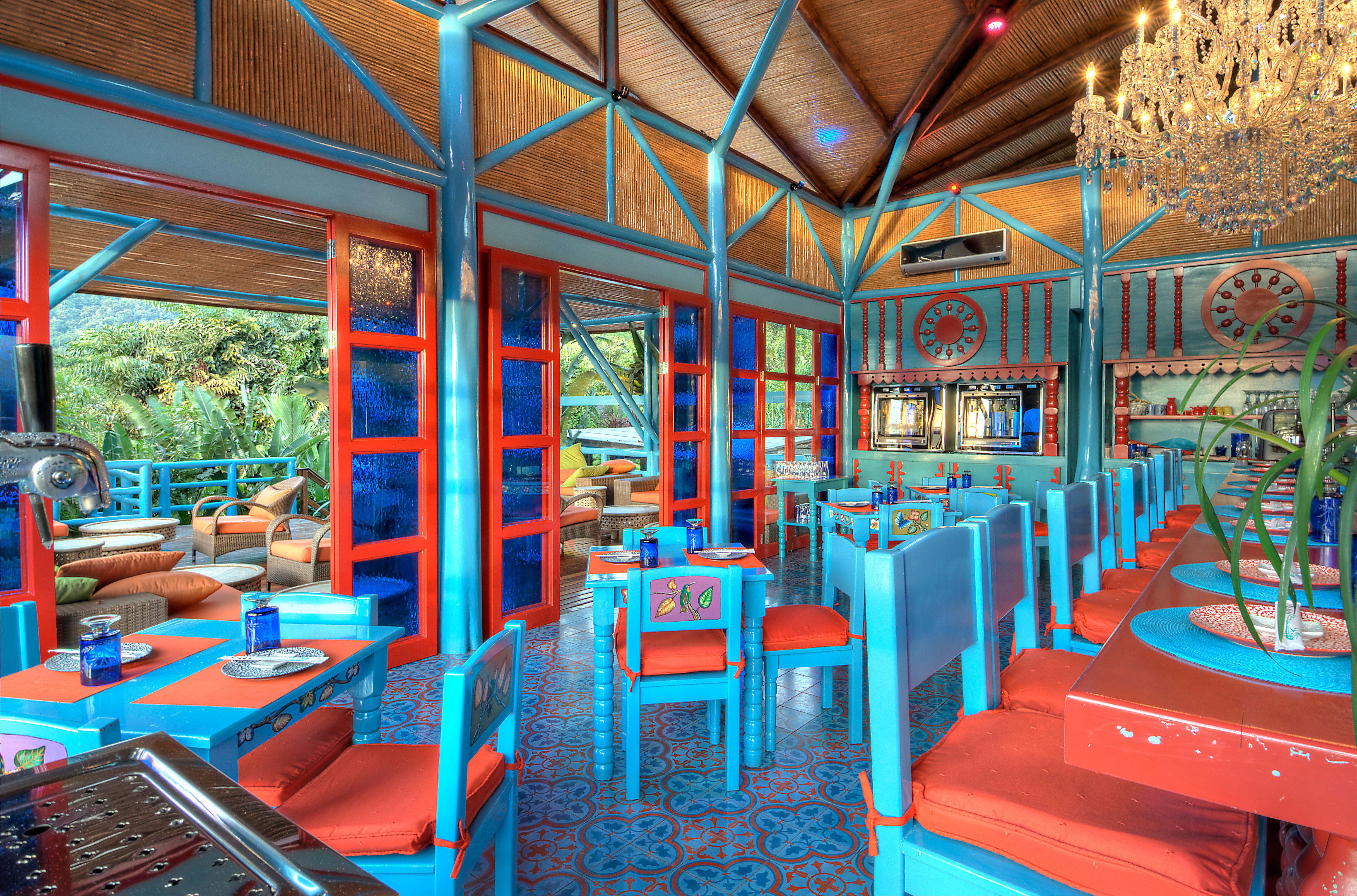 Country Dining Drink Eat Eco Jungle Romantic Rustic chair leisure restaurant amusement park Resort colorful orange set colored