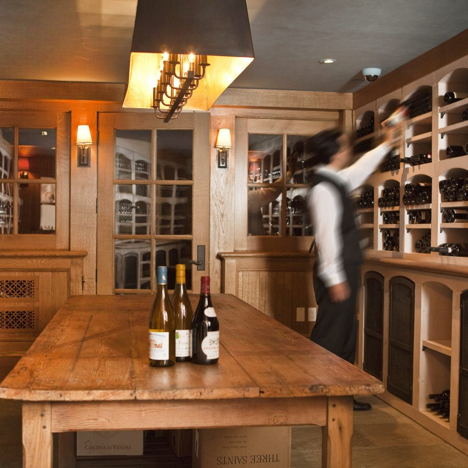 Country Drink Inn Luxury Modern Wine-Tasting wooden cabinetry Winery home basement dining table