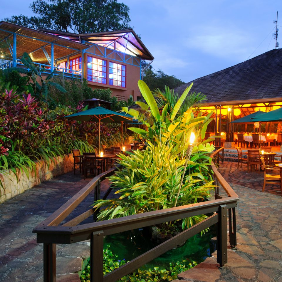 Country Eco Exterior Grounds Jungle Romantic Rustic Scenic views sky ground Resort house Village cottage restaurant