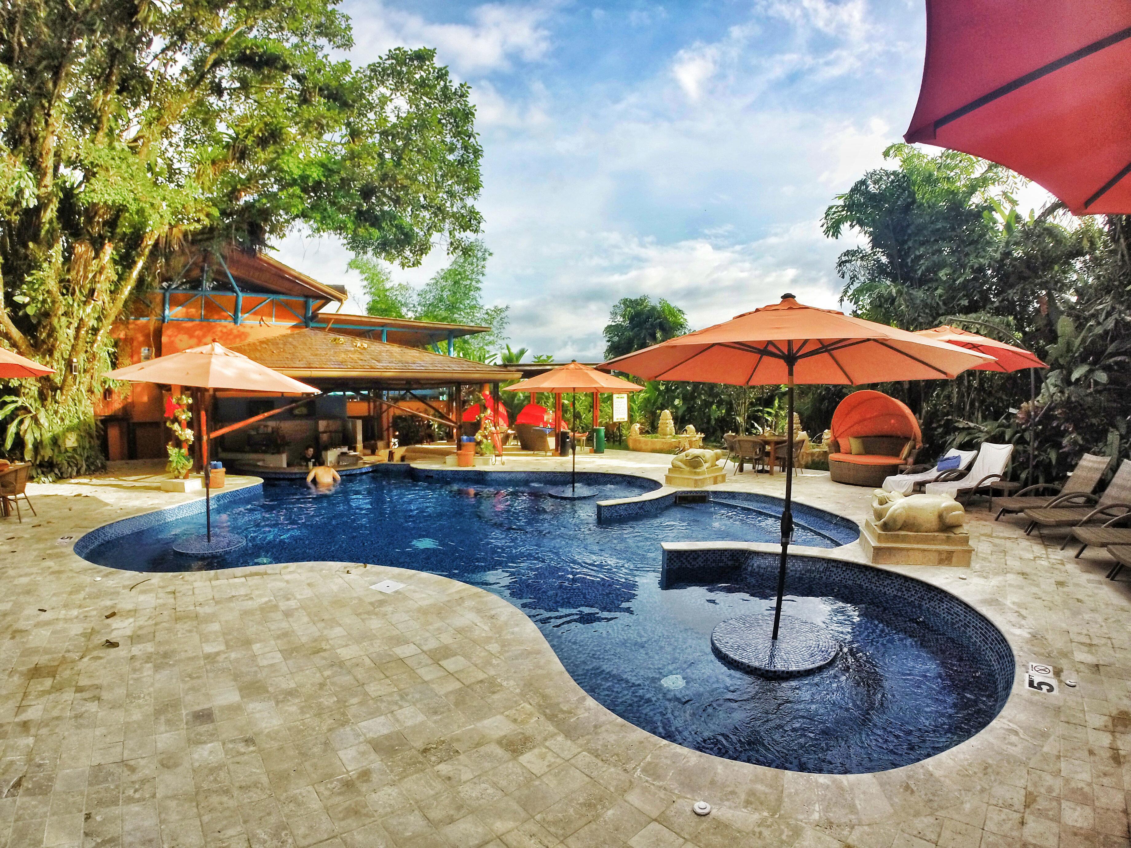 Country Eco Grounds Jungle Pool Romantic Rustic Scenic views tree umbrella ground leisure swimming pool Resort backyard day