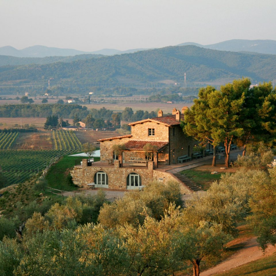 Country Exterior Luxury Rustic Scenic views Wine-Tasting Winery mountain grass tree mountainous landforms Town hill agriculture Nature Village rural area aerial photography landscape valley mountain range green background château flower autumn Farm hillside lush highland