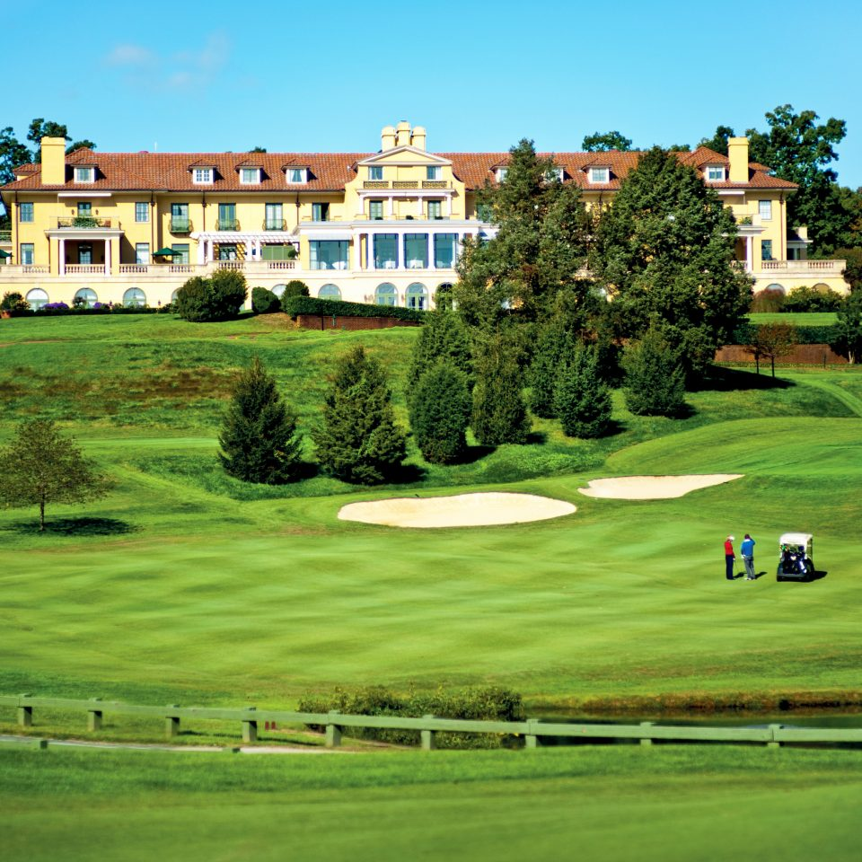 Country Exterior Golf Grounds Outdoors Romantic Sport grass sky tree field structure sport venue green golf course sports golf club outdoor recreation lawn recreation baseball field grassy lush pasture
