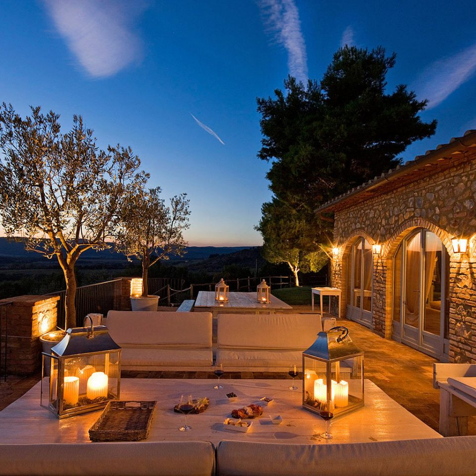 Country Exterior Lounge Luxury Nightlife Patio Rustic Scenic views Wine-Tasting Winery sky property house home Villa Resort mansion evening landscape lighting
