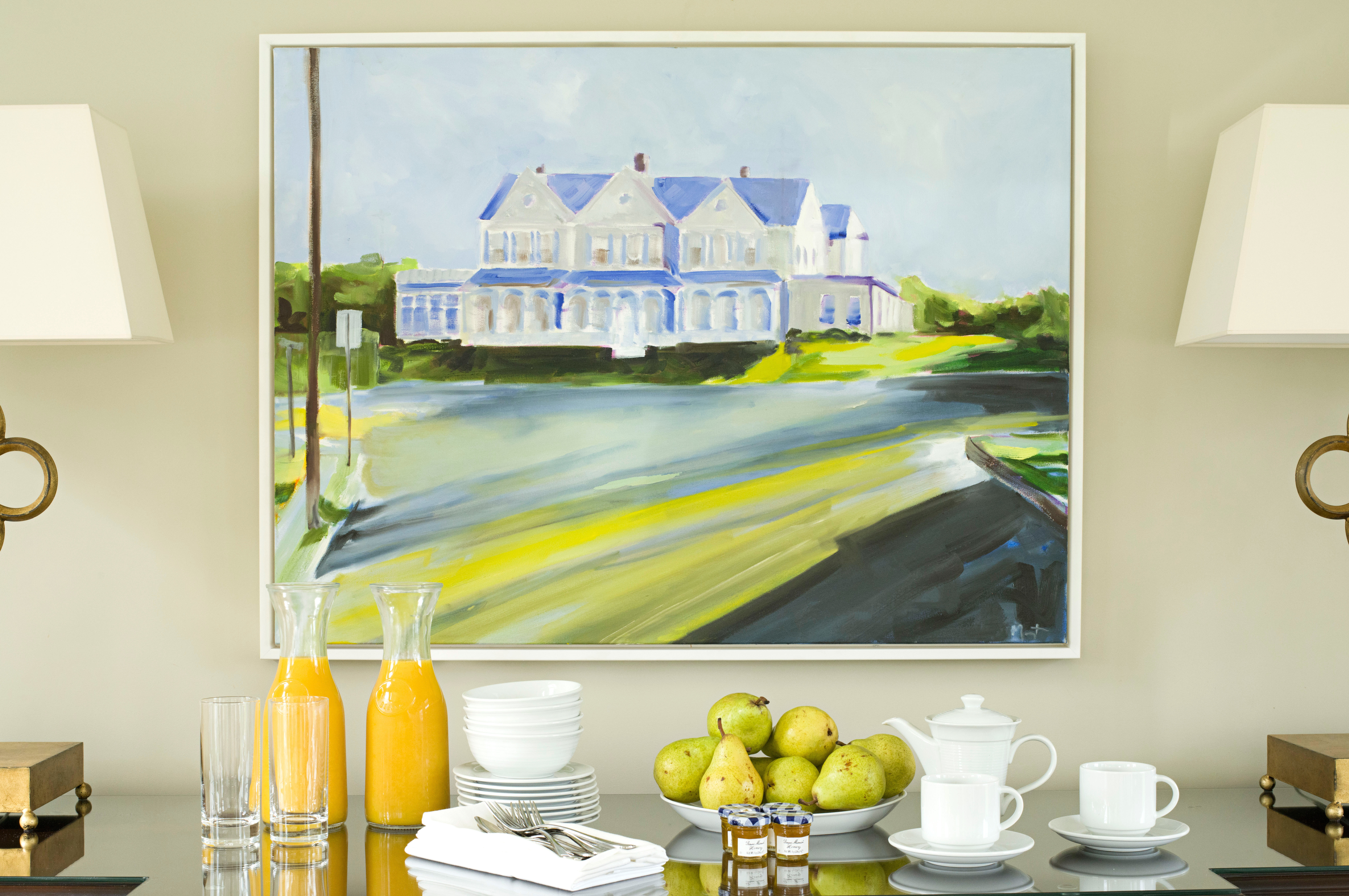 Country Family Golf Luxury Modern Resort Sport yellow modern art home counter illustration