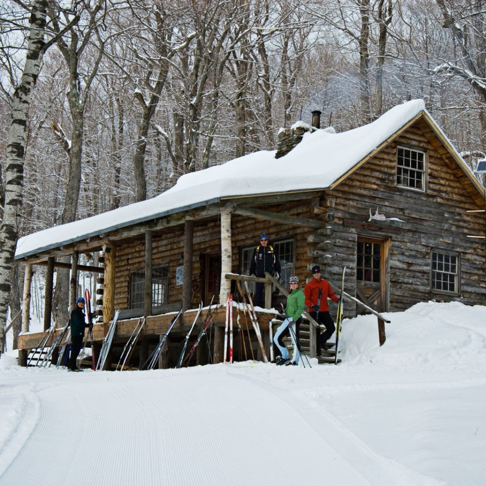 Country Family Lodge Mountains Outdoor Activities Outdoors Ski Trip Ideas Weekend Getaways snow tree Winter skiing weather house Nature season sugar house log cabin blizzard nordic skiing