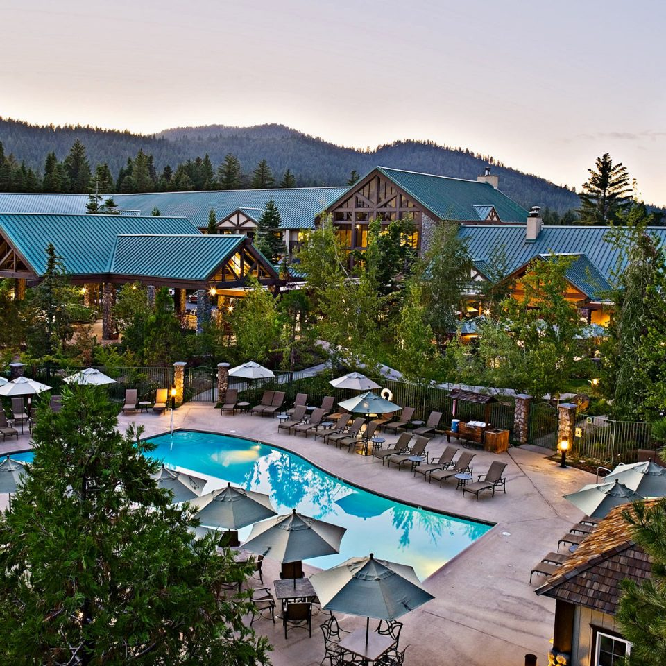Country Family Travel Grounds Lodge National Parks Patio Pool Rustic Trip Ideas tree sky leisure Resort Town house neighbourhood residential area Village home amusement park park