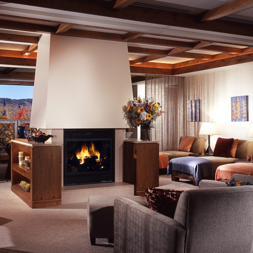 Country Lobby Lodge Lounge Resort Ski living room Fireplace hearth property home house cottage